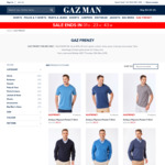 Apparel from $11.21, Accessories from $5.96 + Delivery (Free on Orders over $100) @ GAZMAN Clothing