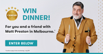 Win a Private Dinner with Matt Preston in Melbourne for 2 Worth $5,000 from Canstar