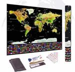 Scratch Off The World Map, 33 x 24 Inches,  $18.99 + Delivery (Free with Prime/ $49 Spend) @ Direct from Factory Amazon AU