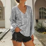 Blouse - V-Neck Long Sleeve US $14 Delivered (~ AU $21.10) @ Grace Karin