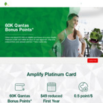 St George/Bank of Melbourne/Bank SA Amplify Platinum Card 60k Qantas Points $49 Annual Fee ($2,000 Min Spend within 90 Days)