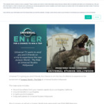 Win a Trip to Universal Studios for 4 Worth $11,714 or 1 of 5 Jurassic World Packs from NBCUniversal International Networks