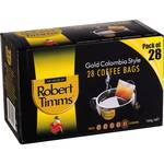 Robert Timms Coffee Bags 28 Pack, $4.82 (½ Price) @ Woolworths