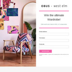 Win 1 of 3 Obus & West Elm Prize Packs Worth up to $1,850 from Obus/Williams-Sonoma