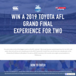 Win a Double Pass to the AFL Grand Final & Accommodation for 2 Worth $1,000 from Canterbury Australia