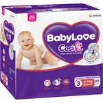 Babylove Cosifit Nappies 66-90pk $21 (Save $6) Online Only @ Woolworths
