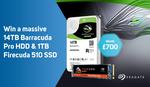 Win a Seagate BarraCuda Pro 14TB HDD & FireCuda 1TB SSD Worth $1,265 from Scan