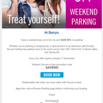 [QLD] 50% off Weekend Car Parking @ Secure Parking