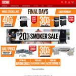 Up to 20% off Smokers (20% off Proq & Pro Smoke, up to 50% off Outdoor Living) @ Barbeques Galore