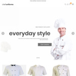 10% off Chef Uniforms, Chef Jackets, Aprons, Chef Pants and Chef Hats @ Chef Uniforms