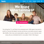 1 Month Free Access to 48 Premium Channels (Usually $20/mth) & 1 Month Free of 'Movie Box' For New Signups @ Fetch TV