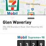 [VIC] Unleaded 98+ $1.329/L @ 7-Eleven (Glen Waverley (Blackburn Rd), 3150)