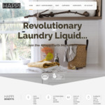 20% off Black Friday: Laundry Liquid Detergent 1L (400 washes) $90 Shipped @ Happi.Earth