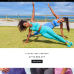 THIQ Black Friday Sale - up to 80% off Ladies Activewear + Free Shipping over $49 Spend + Extra 10% off at Checkout @ THIQACTIVE