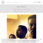 [VIC] Free Tix to Advance Screening of 'Just Mercy' via ShowFilmFirst (Camberwell, VIC)