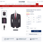 Suit Jacket 100% Wool Fr $49 (Was $280), Wool Mix Trousers Fr $40 & More @ TM Lewin + Shipping (Free $150+ Spend)