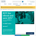 20% off eBooks @ Oxford University Press