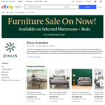 [15% off] Zinus Green Tea Memory Foam Mattress from $237, Award winning Metal Bed from $133, SmartBase from $71  @ Zinus eBay
