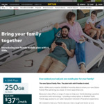 Optus SIM Only Mobile Family Plan $149/Mth, 250GB/Mth Shared Data across 4 SIMs, Unlimited Talk/SMS via Optus