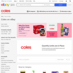 [eBay Plus] $10 off Coles eBay (Min Spend $80) - Free Shipping over $49