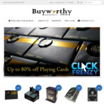 Up to 80% off Playing Cards @ Buyworthy.com.au