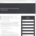 Free: Microsoft Azure Fundamentals AZ-900 Virtual Training + Free Voucher for Certification Exam @ Microsoft
