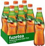 Fuze Peach Black/Mango Green Iced Tea Bottle, 6 x 1.25L $12.49 + Del ($0 with Prime)/ $11.24 Shipped (Sub & Save) @ Amazon