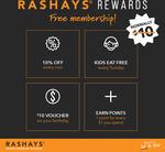 [NSW] Free Rashays Rewards Membership (Usually $10, Pick-up Required) @ Rashays Harbourside (Sydney)