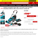 Makita 461 Lawn Mower with 3x 5.0ah Batteries, Dual Rapid Charger (Free Blower via Redemption) $799 @ Sydney Tools & Total Tools