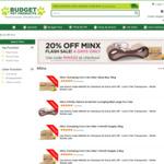 20% off Minx Corn Cat Litter ($54/15kg, $44/10kg, $12/2.5kg) and Deluxe Scratcher ($60) @ Budget Pet Products ($0 Ship > $49)