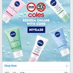 50% off NIVEA Range @ Coles Online