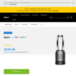 Dyson Pure Hot+Cool Link HP03 (Black/Nickel) $494.10, V10 Absolute+ $764.10, V7 Motorhead $359.10 Delivered @ Dyson Australia