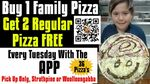 [QLD] Buy 1 Family Pizza, Get 2 Regular Pizzas Free @ DeliverMyFood.com.au (via Rewards App)