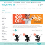 20%-30% off Storewide @ Baby Bunting