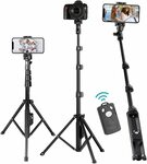 Selfie Stick Tripod $26.85 + Delivery ($0 with Prime/ $39 Spend) @ Ottertooth Direct via Amazon AU