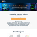 $100 Gift Card for New Email Subscribers That Make a Purchase of Selected Products @ Newegg