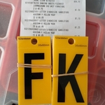 Sandleford Self-Adhesive Yellow Letter Signs 60x35mm - $0.05 Each (Was $1.99, Excludes Letters A, B, C) @ Bunnings