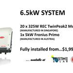 [VIC] 6.6kW REC TP2 325W Solar Panels + 5kW Fronius Inverter Fully Installed from $3,849* ($1,999 Upfront) @ Pristine Solar