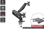 Kogan Full Motion Gas Spring Dual Monitor Mount with Laptop Holder Combo $69.99 + Delivery (Free with First) @ Kogan
