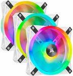 Corsair iCUE QL120 RGB, 120mm RGB LED PWM Fans White (Triple Pack) $115 Delivered @ Amazon AU