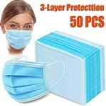 50x Face Masks 3 Ply $9.98 + Shipping from $6.99 @ JohnnyBoy