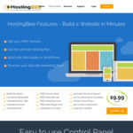 Free Domain & 50% off 1, 2 & 3 Year Ultimate Hosting Plan: $59.94/Year (Was $119.88/Year) @ HostingBee