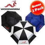 "Woodworm 60"" Golf Umbrella 3 Pack $16.95 Plus $10.95 Postage"