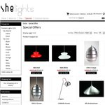 Up to 50% off Pendant Lights for Re-Opening Launch of SHE Lights