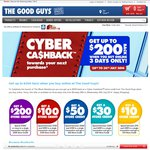Get up to $200 Store Credit When You Buy Online @ The Good Guys - 3 Days Only