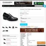 Chamaripa 2.76 Inch Calfskin Leather Formal Black Dress Shoes (USD $109) Free Shipping