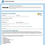 AmEx Offer MYER Spend $250 or More Get $50 Credit