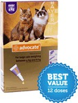 Advocate 12 Pack Large Cat (over 4kg) $110.68 @ Our Pet World (Free Delivery)