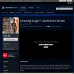 AU PSN - PS4 - $17.95 Sleeping Dogs™ Definitive Edition