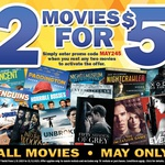 Hoyts Kiosk, Two Movies for $5, Code MAY245, Effective 1-31 May
